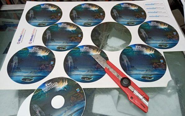 Cetak label CD Padang