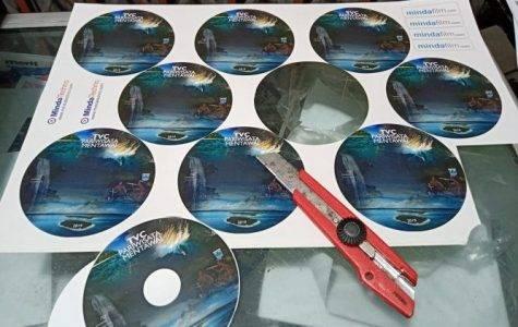 Cetak Stiker label CD Padang