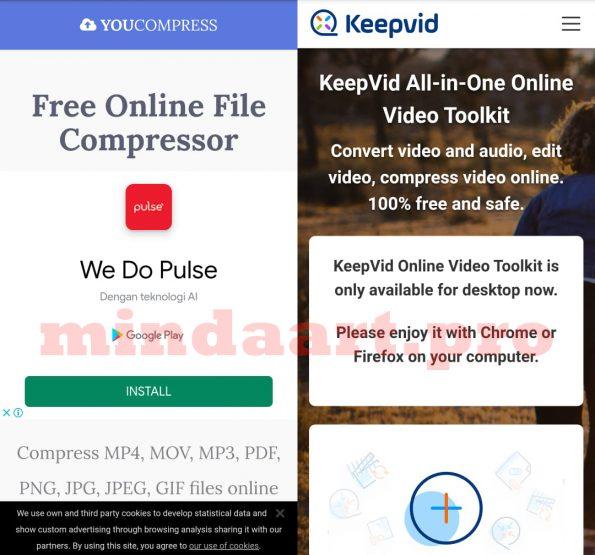 Cara Memperkecil Kompres atau Convert Ukuran Video di Android Tanpa Aplikasi