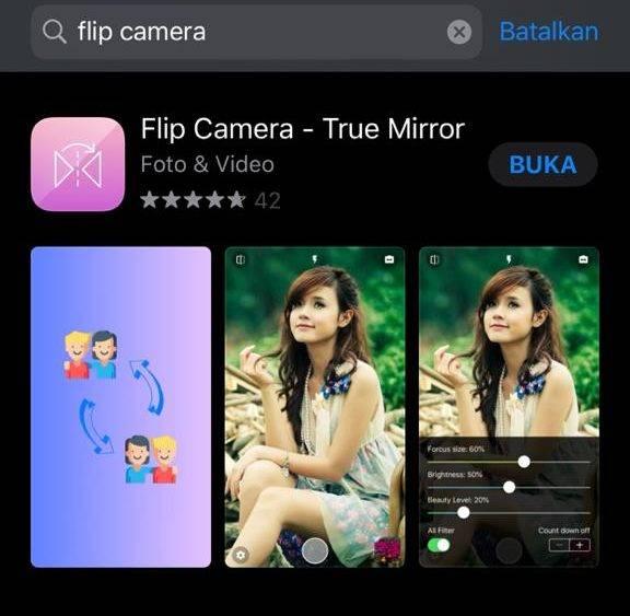 Cara Membalik Foto Selfie di iPhone
